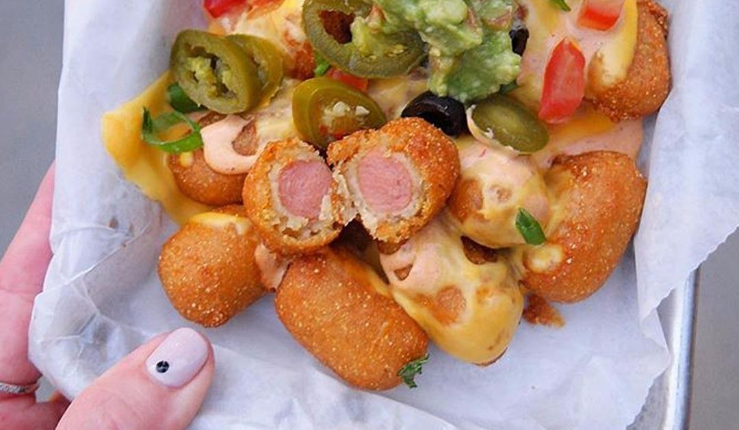 La fureur à Disneyland: des nachos avec des Pogos