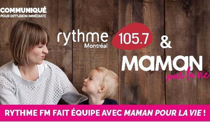 Rythme FM fait équipe avec Maman pour la vie!