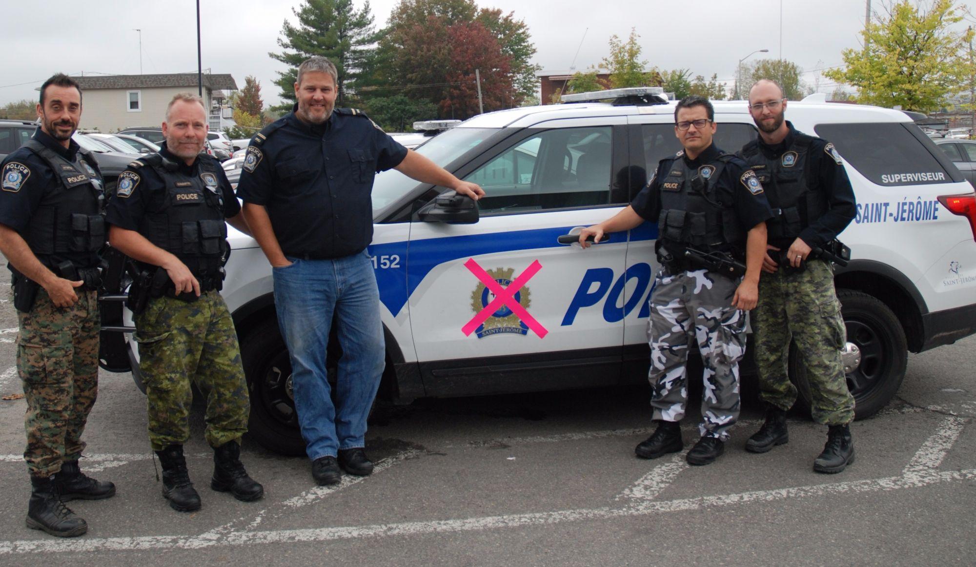 Pantalondecamouflage:les policiers de Saint-Jérômeen moyen de pression