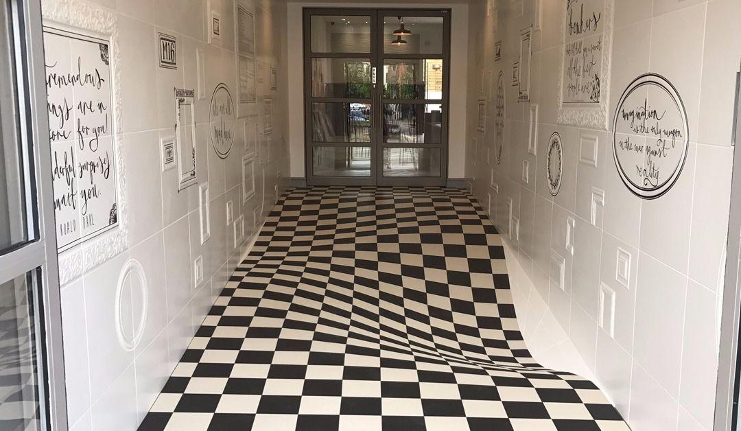 Illusion d'optique dans le couloir