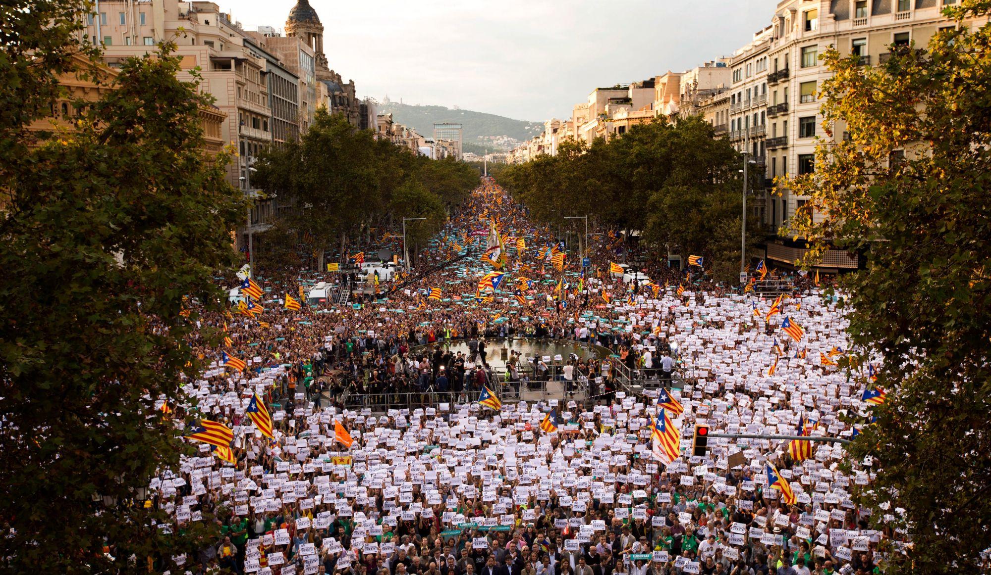 450 000 manifestants pour réclamer l'indépendance de la Catalogne