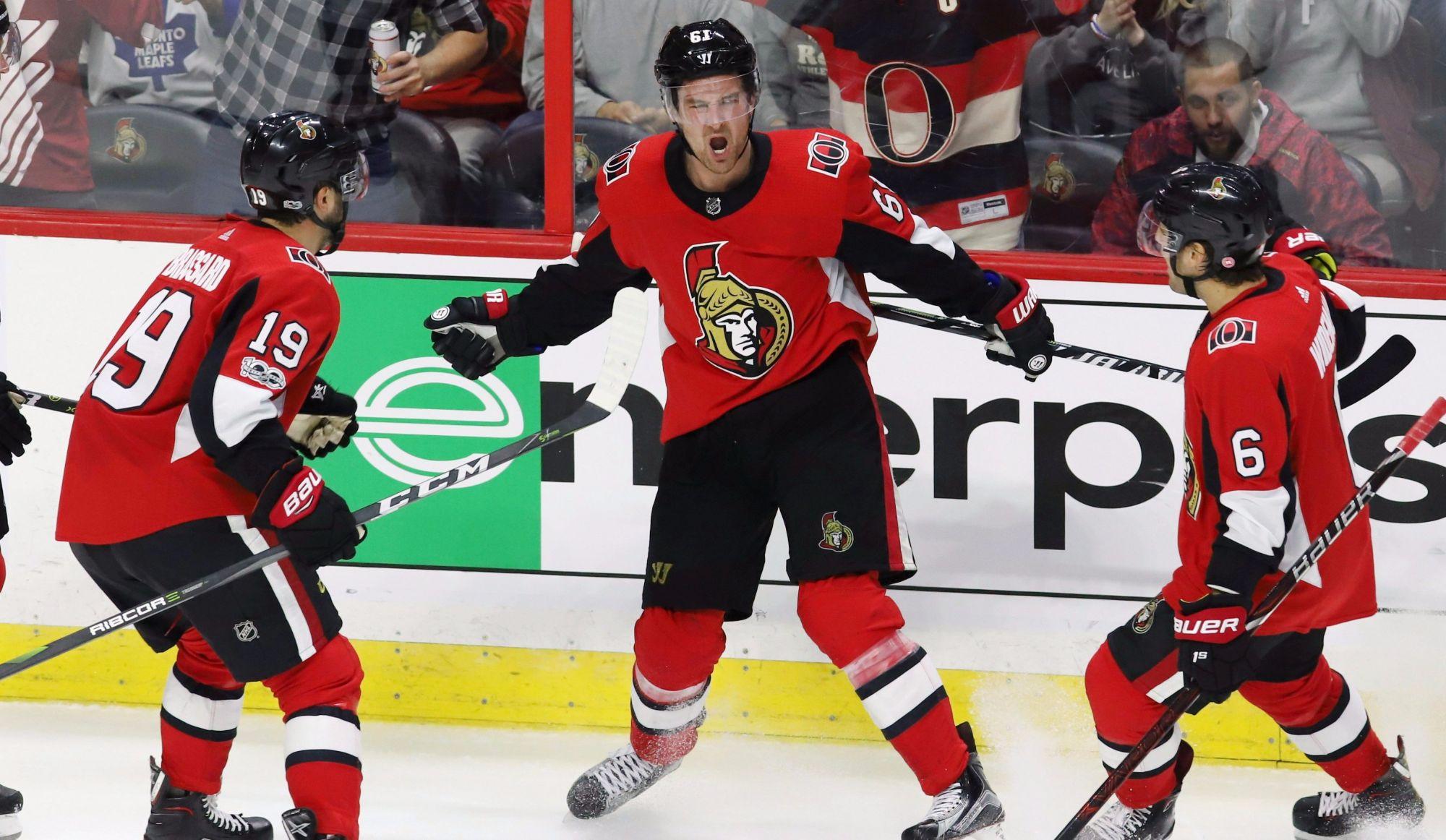 Brassard et Stone mènent les Sénateurs à la victoire sur les Leafs (vidéo)