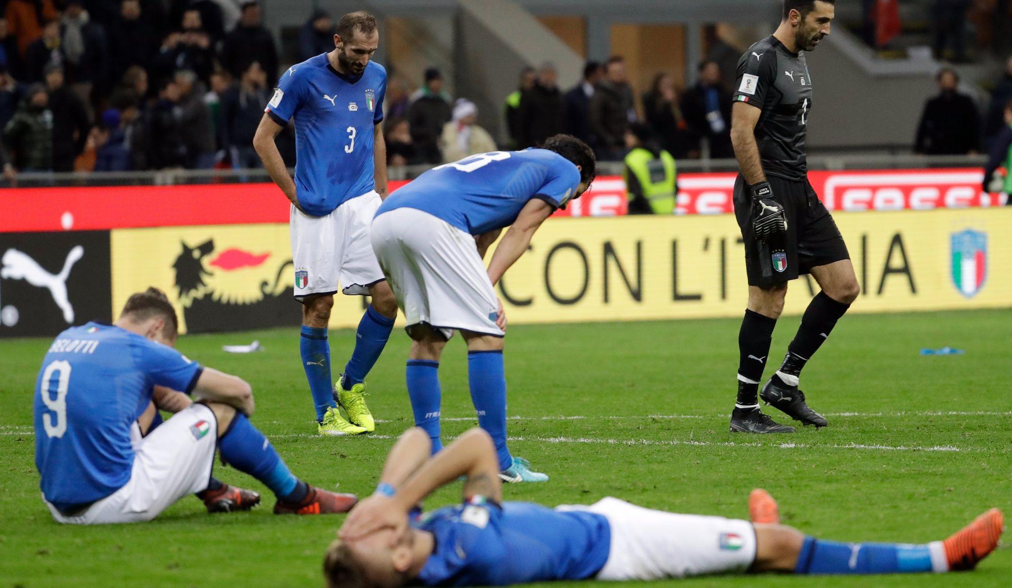 Désastre national: l'Italie exclue du Mondial 2018
