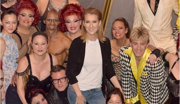 Céline Dion et Pepe Munoz au Cirque du Soleil