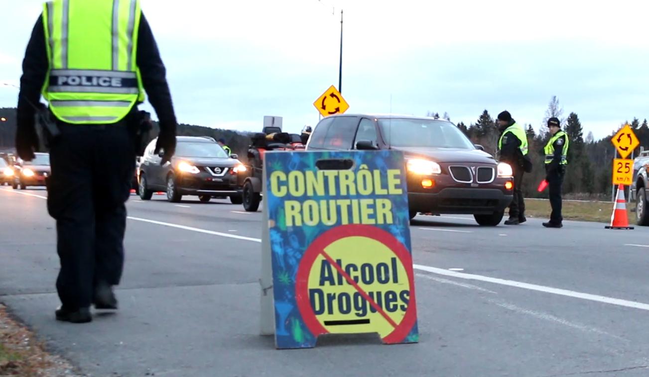 Barrage routier : tous les corps policiers unis contre l'alcool et la drogue au volant