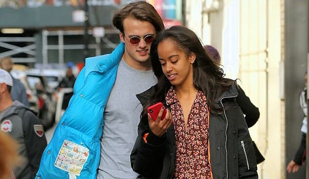 Spotted: Malia Obama out on a date with boyfriend Rory Farquharson