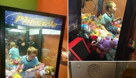 Firefighters Rescue Boy from Toy Machine