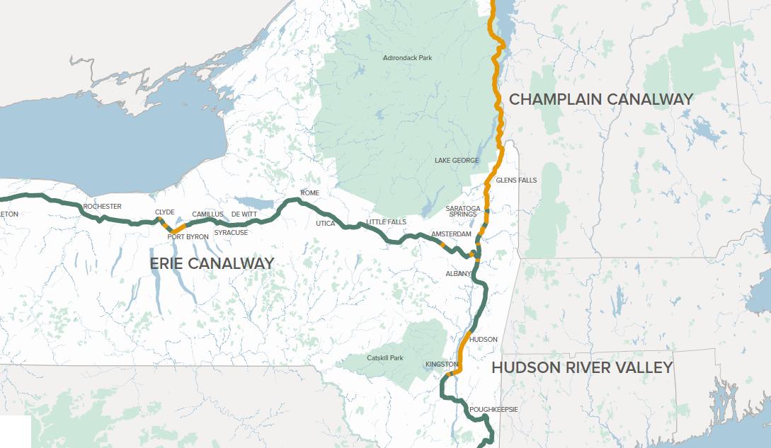 A 1,200 km Bike Path will Link Canada to NYC