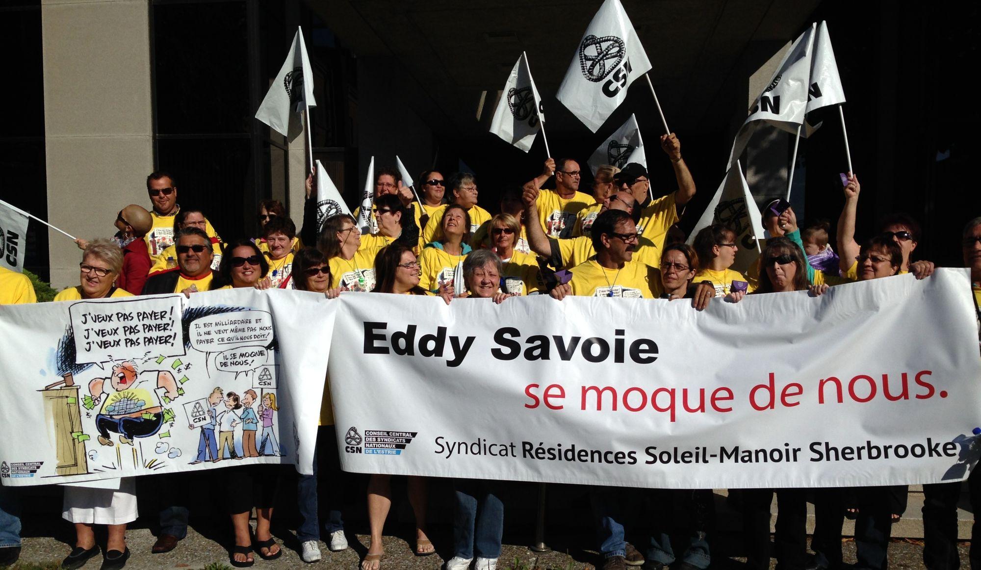 Grève au Manoir Sherbrooke