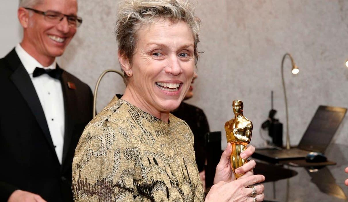Un homme arrêté pour avoir volé l'Oscar de Frances McDormand