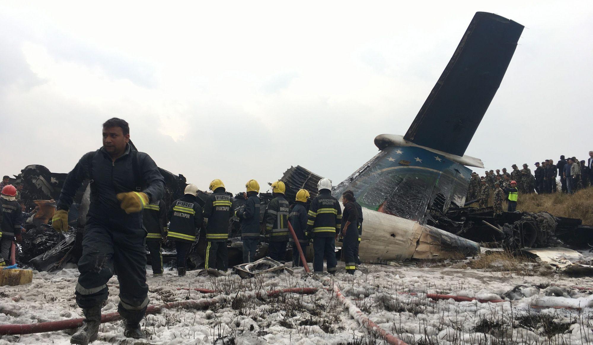 L'écrasement d'un avion fait au moins 50 morts au Népal