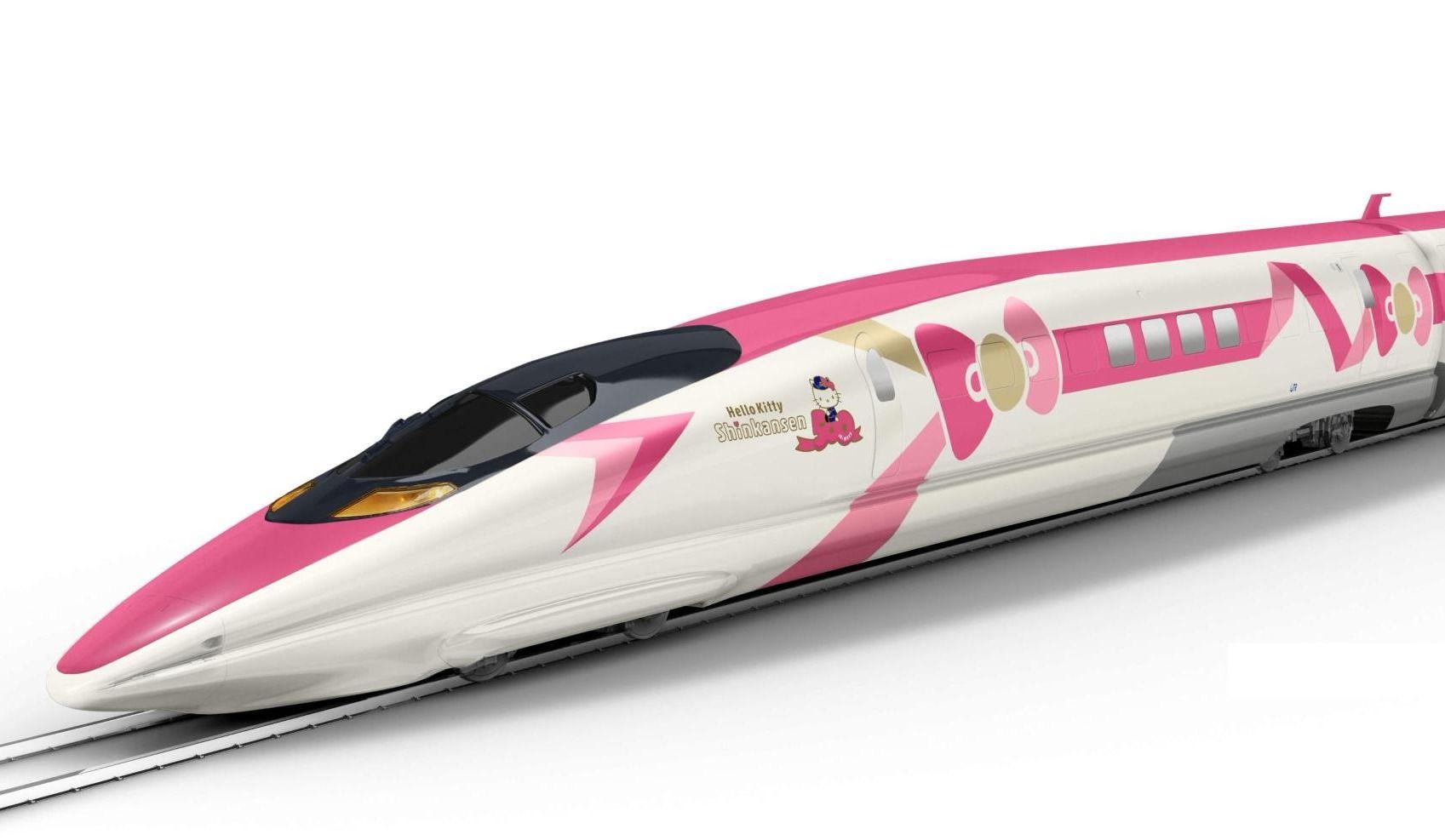 Un train à grande vitesse Hello Kitty