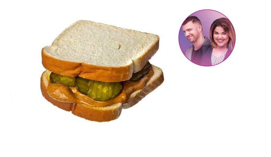 Vinny and Nikki tried the Peanut Butter & Pickle Sandwich!