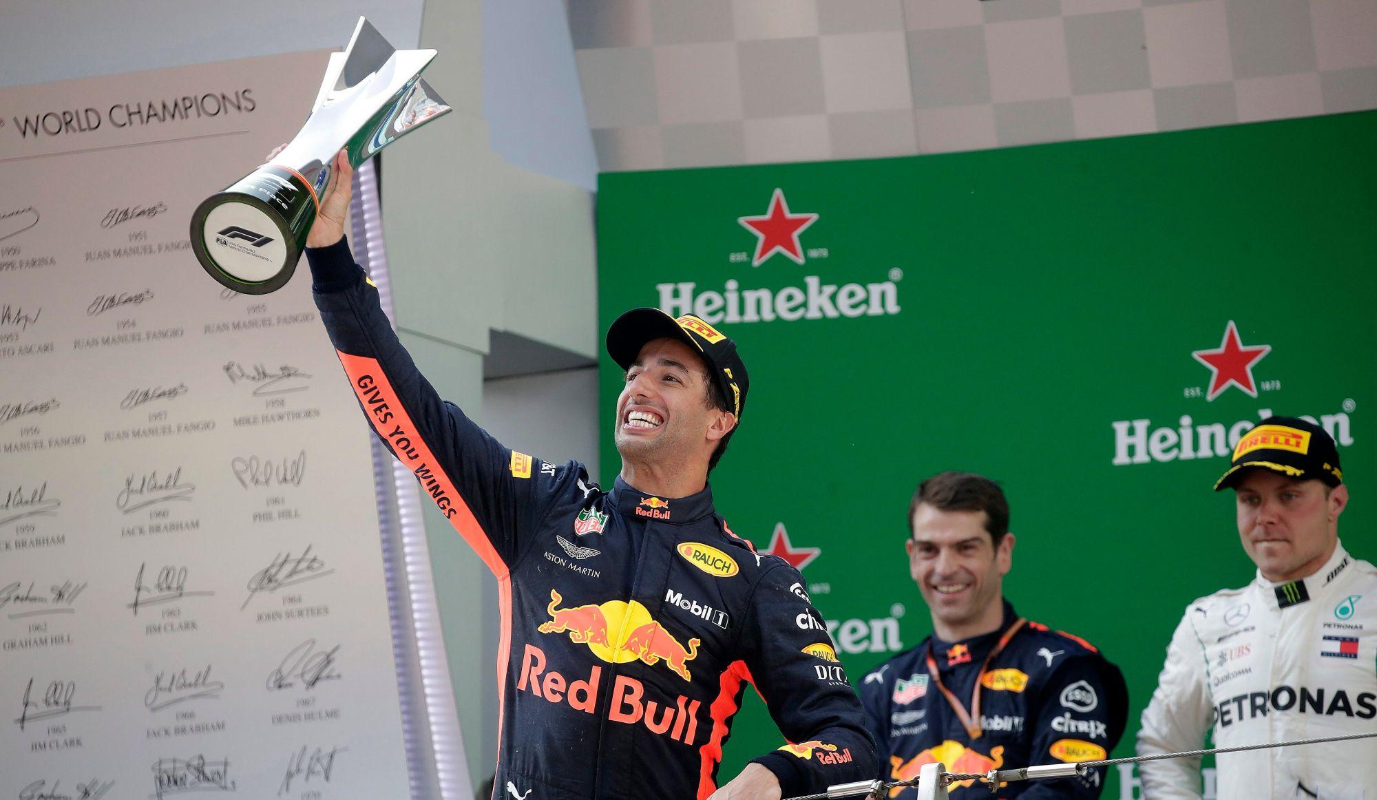F1: Daniel Ricciardo gagne le Grand Prix de Chine
