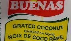 Bactérie Salmonella: rappel de noix de coco de marque Buenas