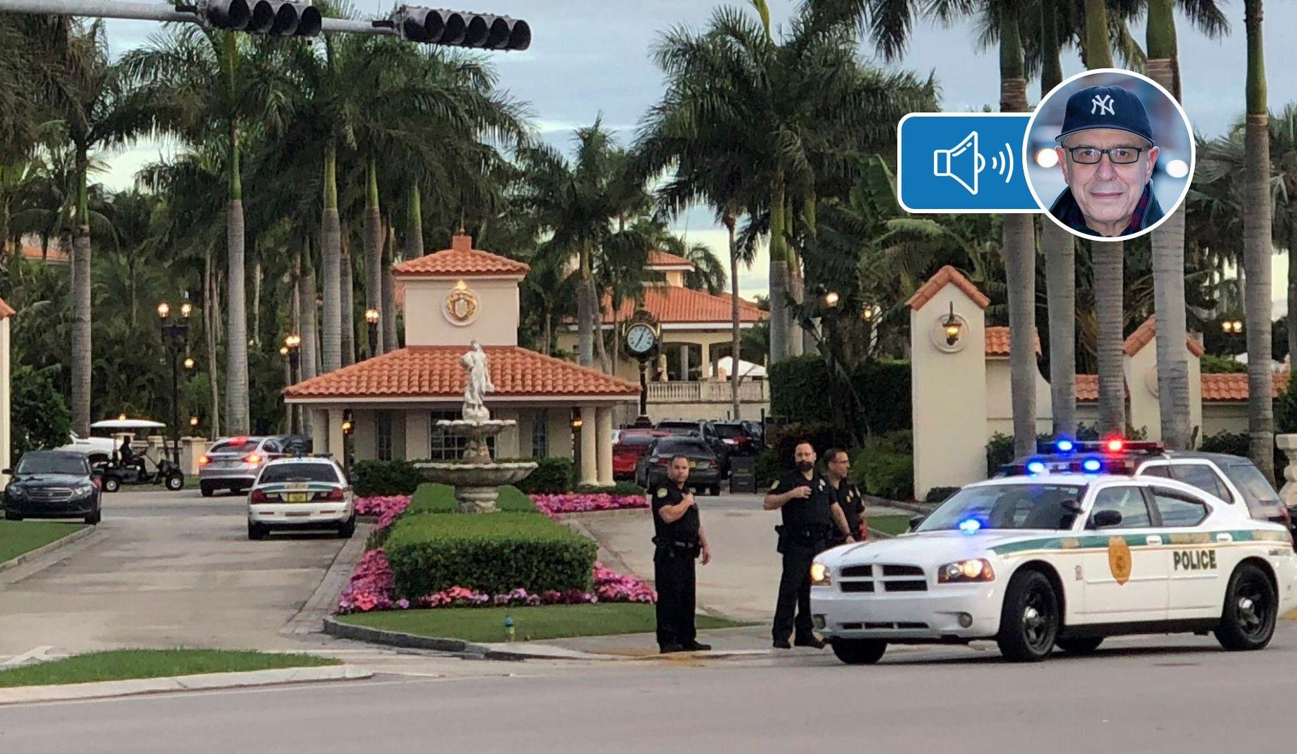 Un homme arrêté sur le terrain de golf de Trump