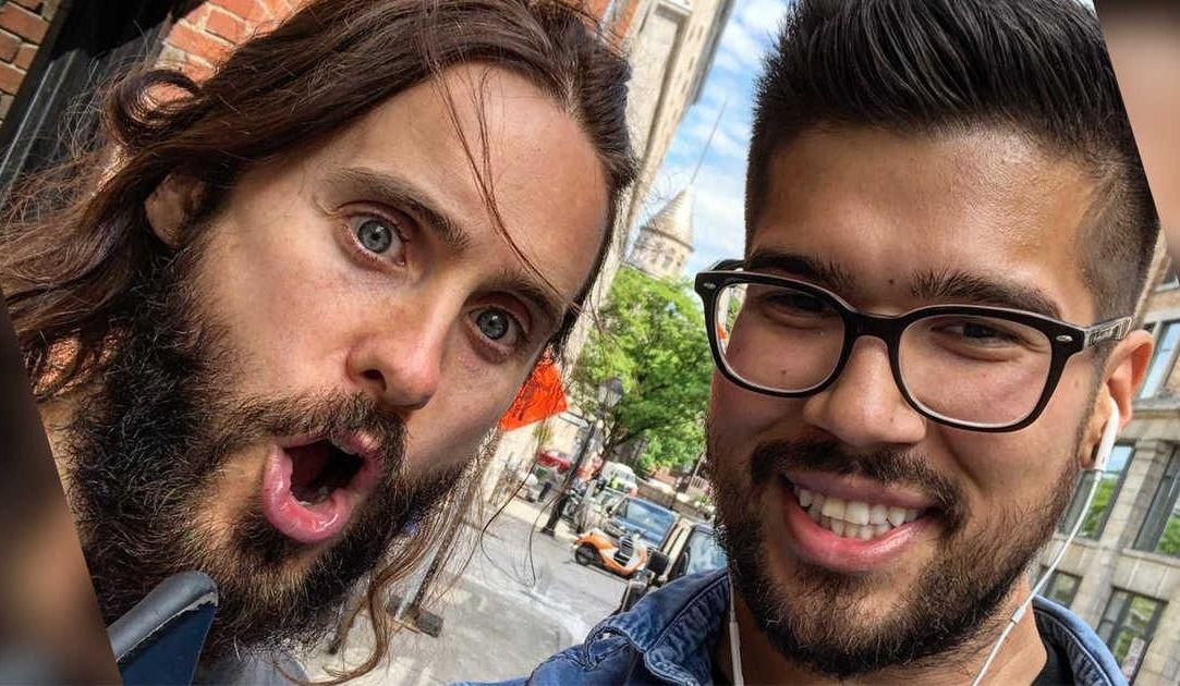 Jared Leto dans les rues de Montréal