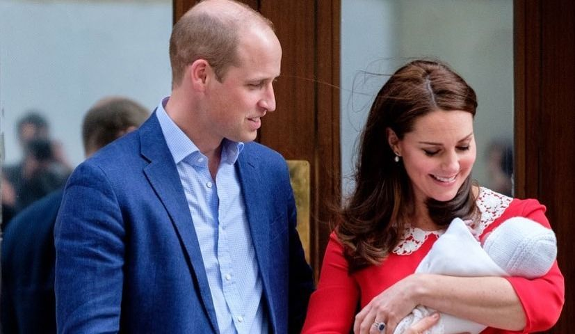Will, Kate, George and Charlotte Attend Prince Louis' Christening