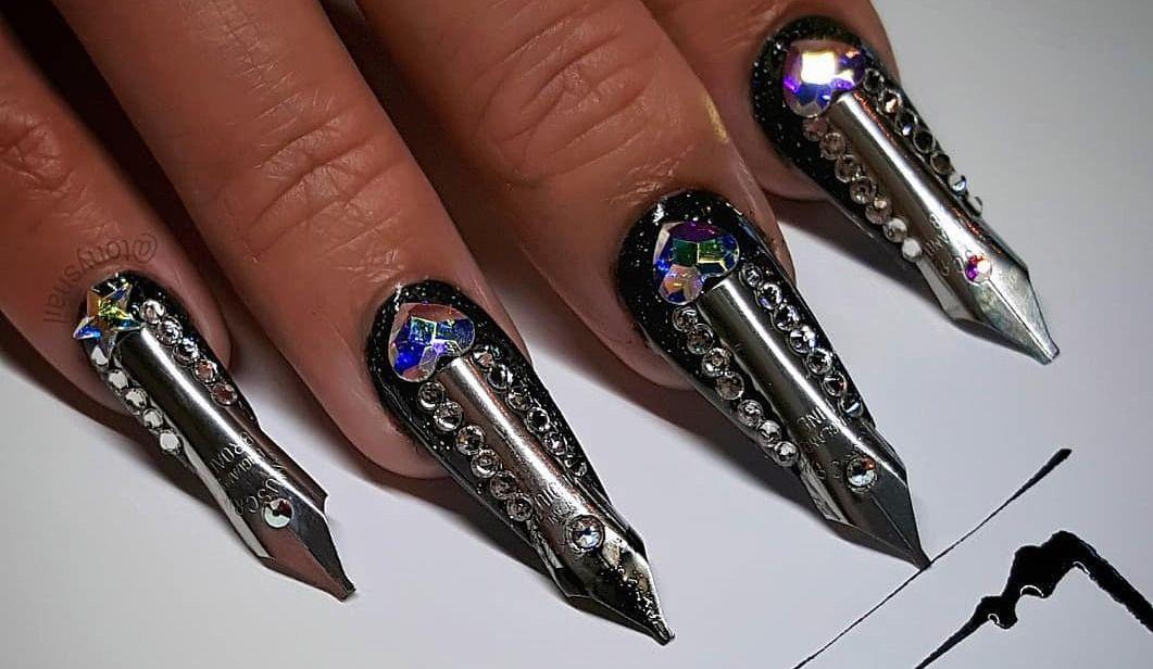 "Artist Creates Unique ""Utility Nails"""