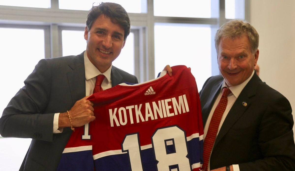 Justin Trudeau a parlé sport au sommet de l'OTAN !