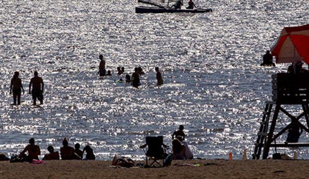 La plage du Parc des Cèdres fermée