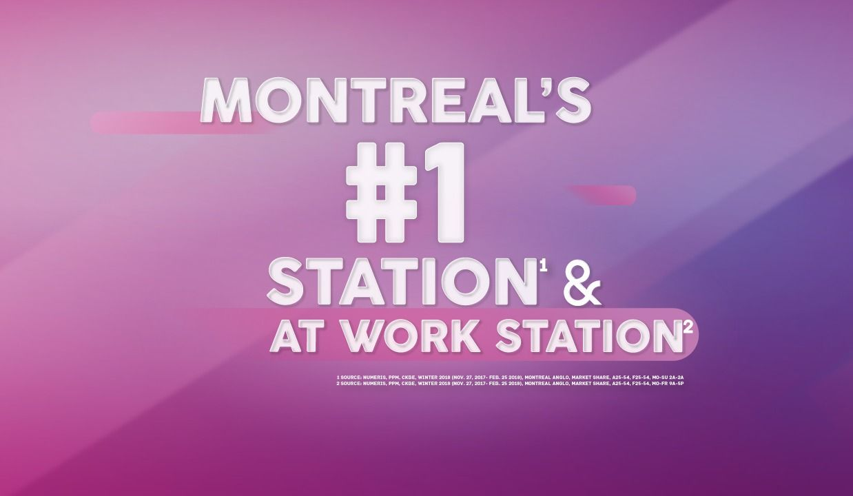 THE BEAT 92 5 IS MONTREAL'S #1 RADIO STATION! [1] - The Beat